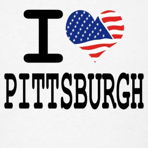 i love pittsburgh Buttons - Men's T-Shirt