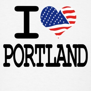 i love portland Buttons - Men's T-Shirt