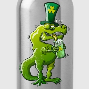 Saint Patrick's Day Tyrannosaurus Rex Long Sleeve Shirts - Water Bottle