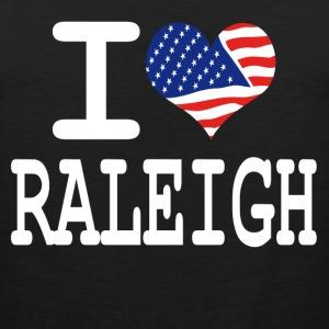 i love raleigh - white Women's T-Shirts - Men's Premium Tank