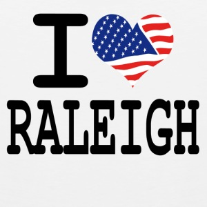 i love raleigh Buttons - Men's Premium Tank