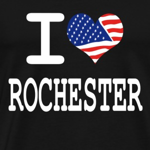 i love rochester - white Hoodies - Men's Premium T-Shirt