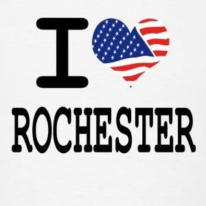 i love rochester - white Buttons - Men's T-Shirt
