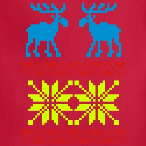Moose Pattern Christmas Sweater / Glow in the Dark - Adjustable Apron