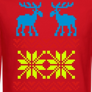 Moose Pattern Christmas Sweater / Glow in the Dark - Crewneck Sweatshirt
