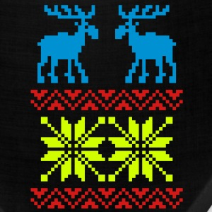 Moose Pattern Christmas Sweater / Glow in the Dark - Bandana