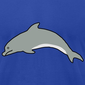 Dolphin Hoodies - Men's T-Shirt by American Apparel