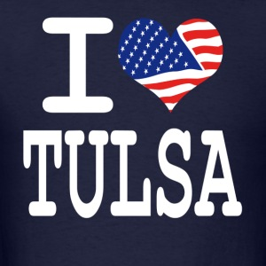 i love tulsa - white Hoodies - Men's T-Shirt