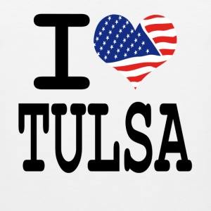 i love tulsa Women's T-Shirts - Men's Premium Tank