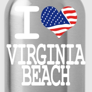 i love virginia beach - white Kids' Shirts - Water Bottle