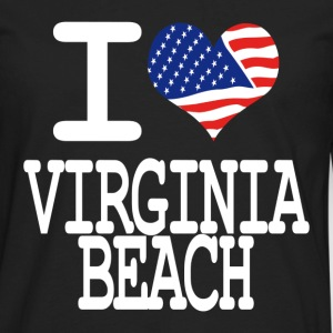 i love virginia beach - white Kids' Shirts - Men's Premium Long Sleeve T-Shirt