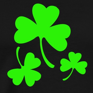 3 Neon Green Shamrocks Sweatshirts - Men's Premium T-Shirt