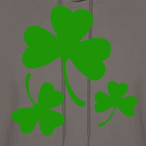 3 Three Leaf Clovers T-Shirts - Men's Hoodie