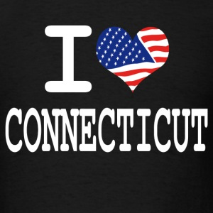 i love connecticut - white Hoodies - Men's T-Shirt