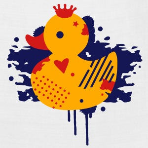 A duck with a crown as a graffiti Polo Shirts - Bandana
