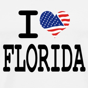 i love florida Buttons - Men's Premium T-Shirt