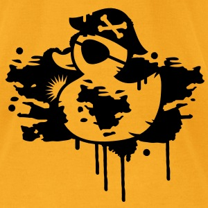 A rubber duck pirate with a pirate hat and eye patch as a graffiti Bags  - Men's T-Shirt by American Apparel