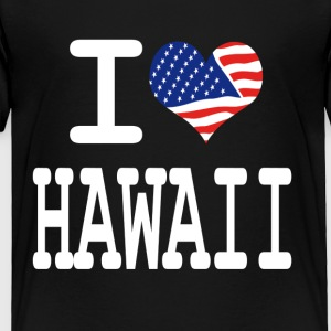 i love hawaii - white Kids' Shirts - Toddler Premium T-Shirt