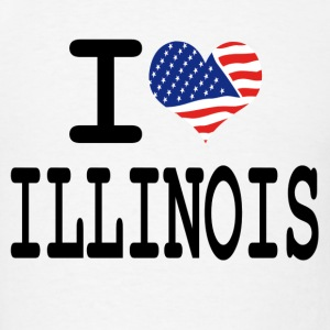 i love illinois Hoodies - Men's T-Shirt