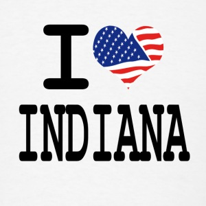 i love indiana Buttons - Men's T-Shirt