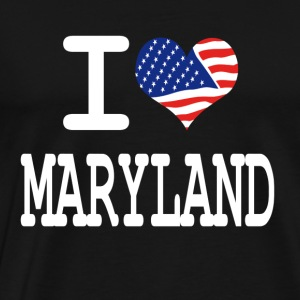 i love maryland - white Hoodies - Men's Premium T-Shirt