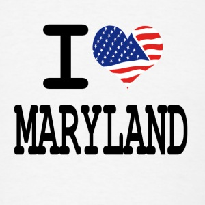i love maryland Buttons - Men's T-Shirt