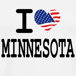 i love minnesota Buttons - Men's Premium T-Shirt