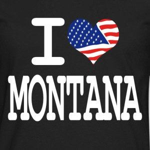 i love montana - white Kids' Shirts - Men's Premium Long Sleeve T-Shirt