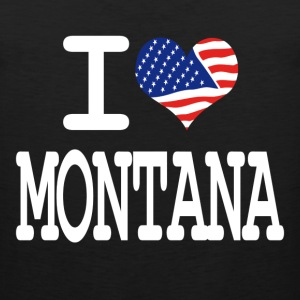 i love montana - white Kids' Shirts - Men's Premium Tank