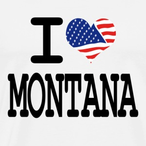 i love montana Hoodies - Men's Premium T-Shirt