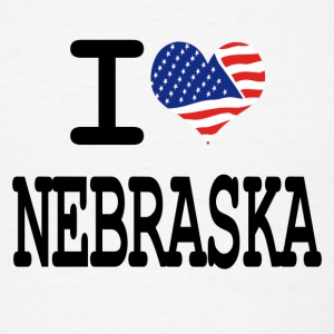 i love nebraska Buttons - Men's T-Shirt