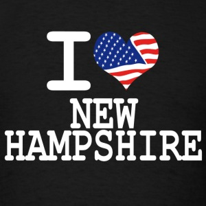 i love new hampshire - white Hoodies - Men's T-Shirt