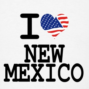 i love new mexico Buttons - Men's T-Shirt