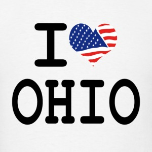 i love ohio Hoodies - Men's T-Shirt