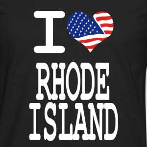 i love rhode island - white Kids' Shirts - Men's Premium Long Sleeve T-Shirt