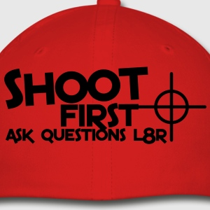 shoot first ask questions L8R later with a target bullseye Hoodies - Baseball Cap