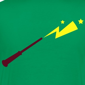 simple magic wand up with lightning strike across Hoodies - Men's Premium T-Shirt