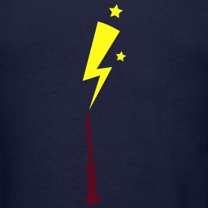 simple magic wand up with lightning strike Hoodies - Men's T-Shirt