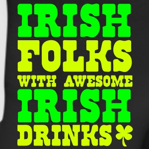 IRISH FOLKS WITH AWESOME IRISH DRINKS and a St Patricks day Shamrock Hoodies - Leggings
