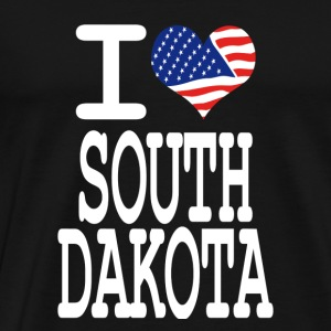 i love south dakota - white Hoodies - Men's Premium T-Shirt