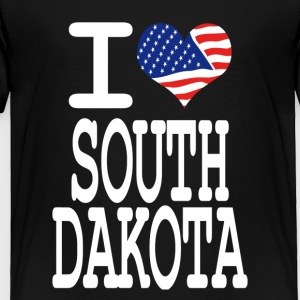 i love south dakota - white Kids' Shirts - Toddler Premium T-Shirt