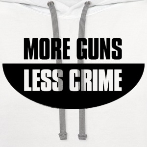More guns less crime T-Shirts - Contrast Hoodie