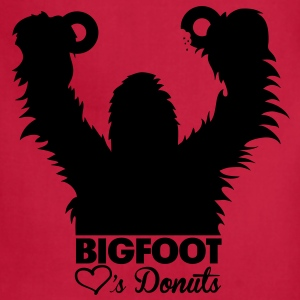 Bigfoot Loves Donuts (White) - Kid's - Adjustable Apron