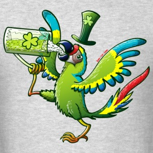Saint Patrick's Day Macaw Long Sleeve Shirts - Men's T-Shirt