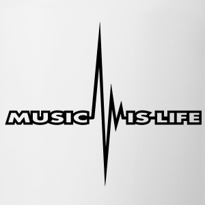 music_is_life_pulse T-Shirts - Coffee/Tea Mug