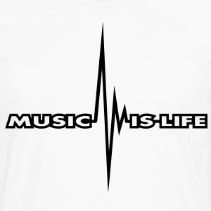 music_is_life_pulse T-Shirts - Men's Premium Long Sleeve T-Shirt