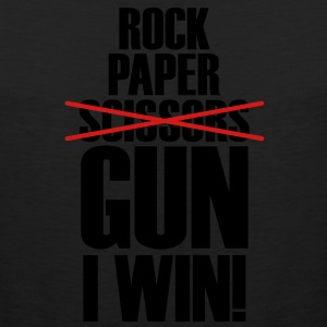 Rock Paper No Scissors Gun I Win Women's T-Shirts - Men's Premium Tank