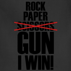 Rock Paper No Scissors Gun I Win T-Shirts - Adjustable Apron