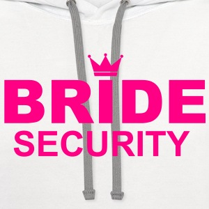Bride Security T-Shirts - Contrast Hoodie