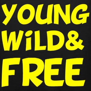 Young Wild and Free Design T-Shirts - Men's Premium Tank